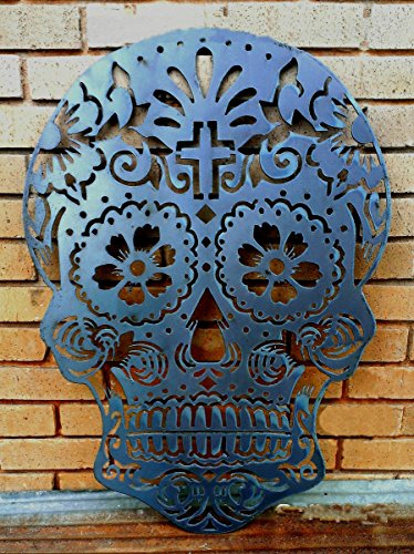 Sugar Skull Wall hanging. Metal cutout.