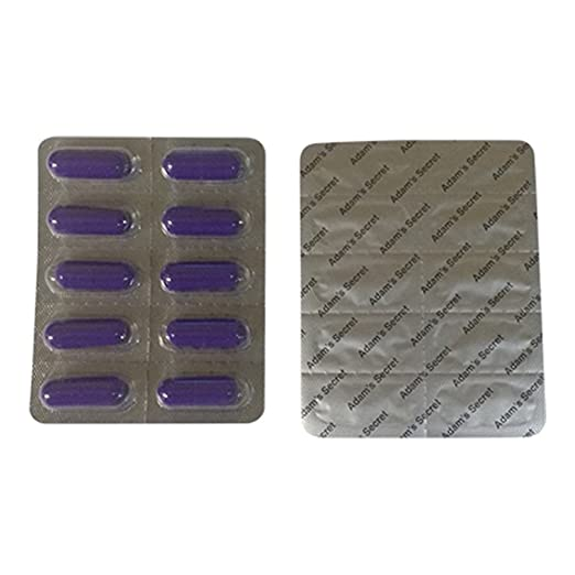 Amazon Com Adams Secret 1500 100 Natural Male Libido Performance Enhancement 10 Pills Per Pack 3 Pack With Adams Secret Original Inner Seal Health
