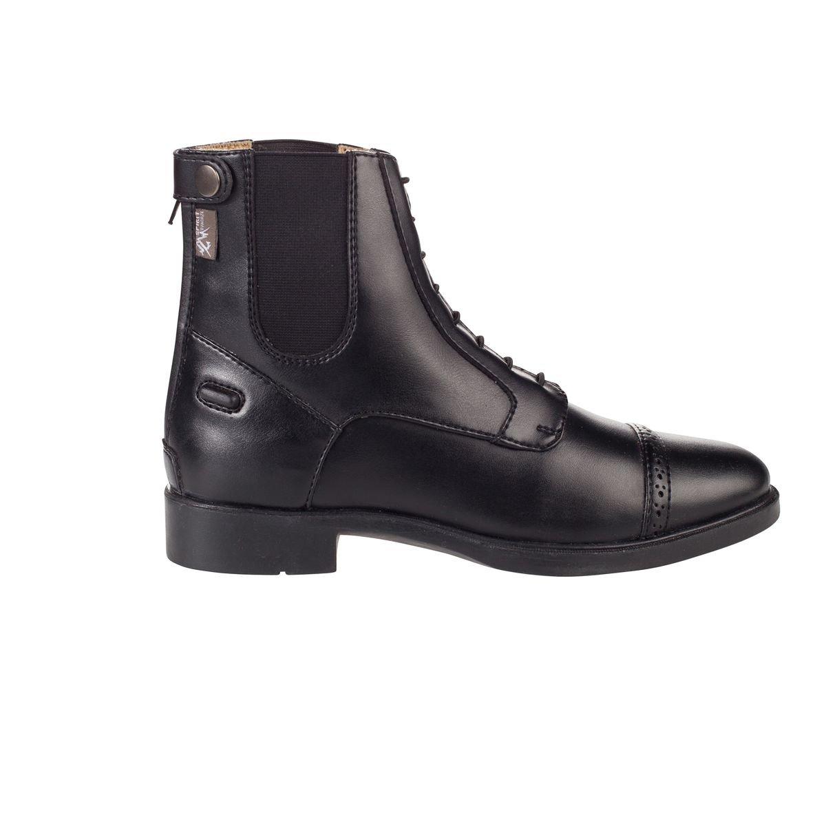 Horze Child 's Spirit Kilkenny Jodhpurs Paddock Boots with Zipper in Back and laced-up Loook US 3.5/EU 31  B012TRAREU