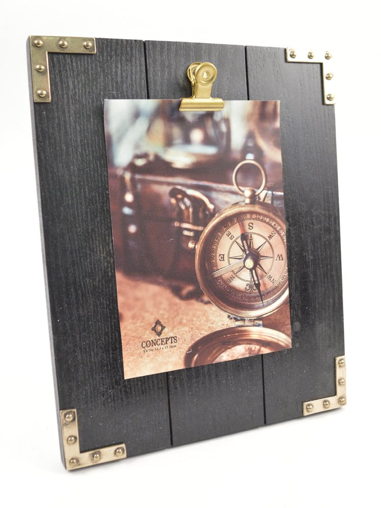 Concepts Black 5X10 Photo Clip Vintage Retro Look With Gold Features