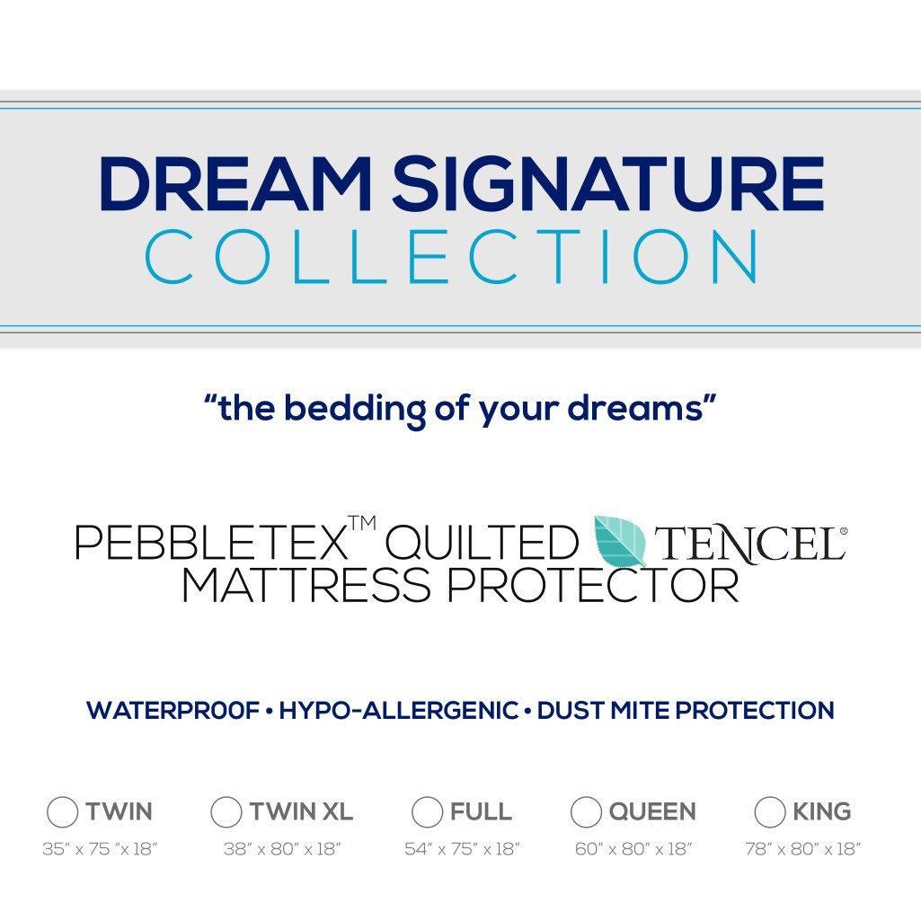 Dream Signature Collection Organic Pebbletex Tencel Twin Mattress Protector