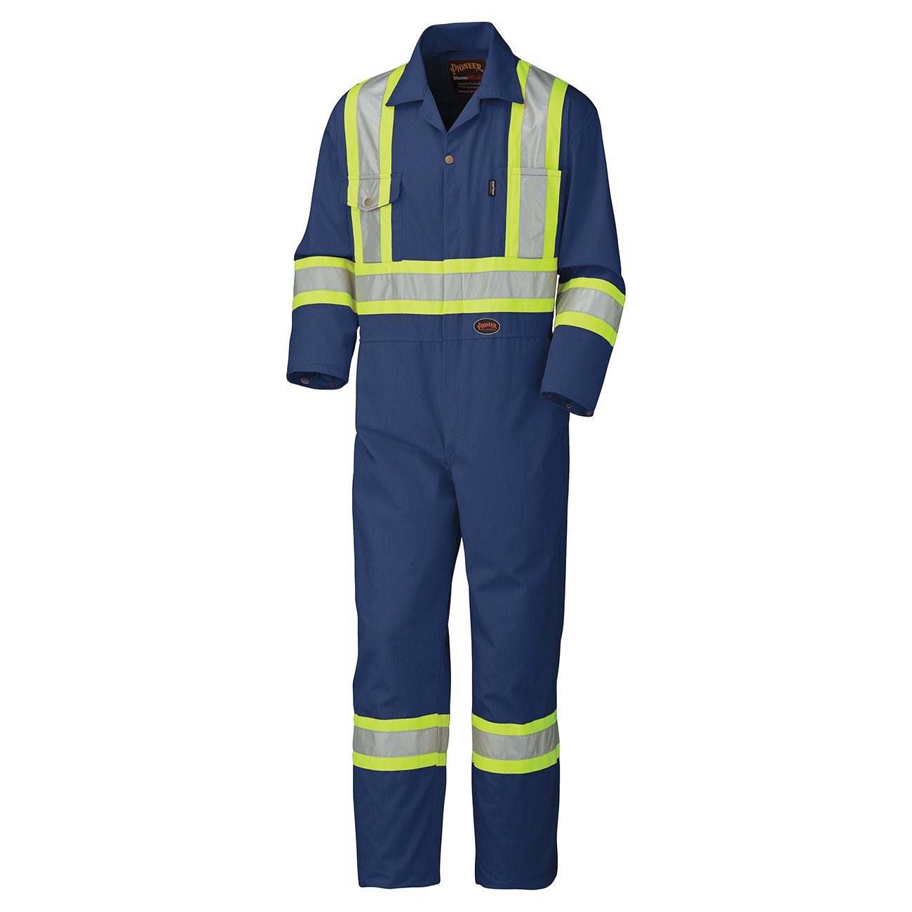 Pioneer V202058T-44 Tall Fit Men CSA Work Coverall - Easy Boot Access, High Visibility, Blue, 44