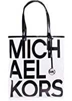 d20efcbb765ae9 ... discount michael michael kors hayley clear large north south tote bag  in black 27460 6086c