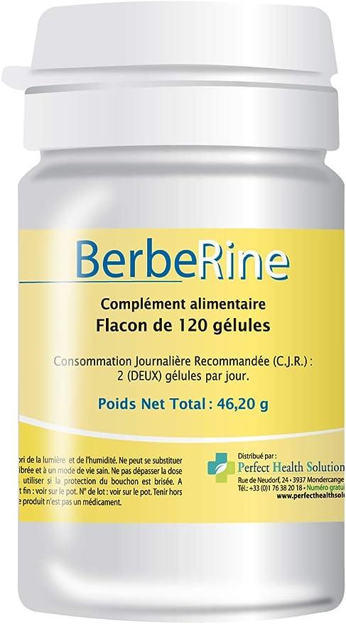 Berbérina 120 comprimidos, permeabilidad intestinal, berberina 97% pura, complemento alimenticio 100% natural