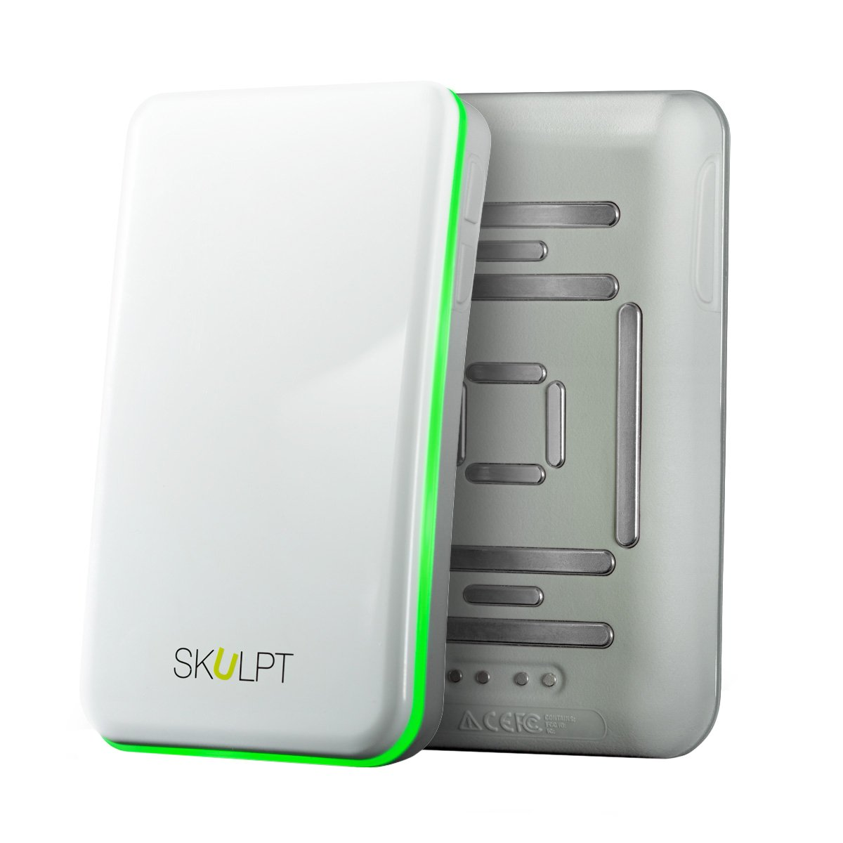 The Skulpt Scanner. Measures Body Fat Percentage, Identifies Muscle Strengths and Weaknesses, and Provides a Personalized Workout Plan to Burn Fat and Build Muscle.