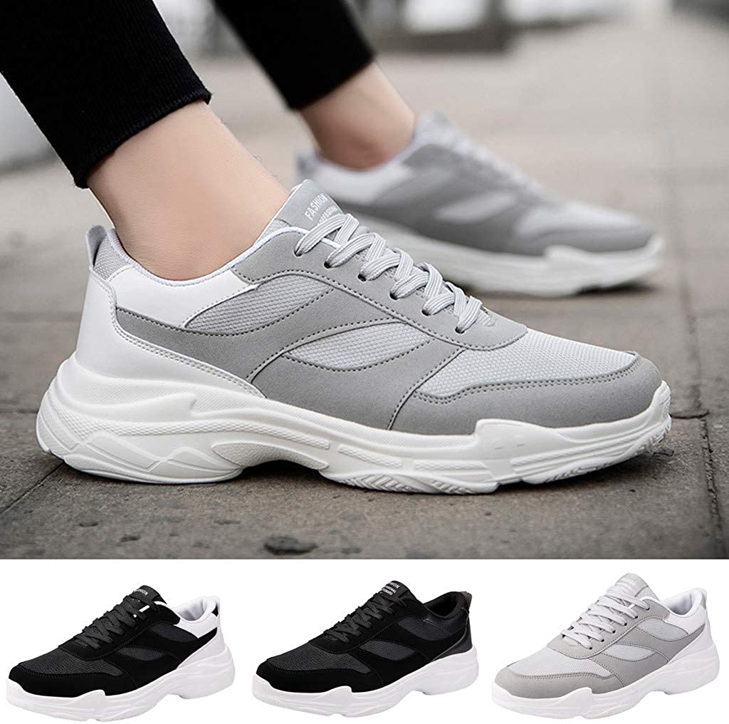 Mens Shoes KKGG Sport Mesh Lightweight Breathable Sneakers Large Size Thick Bottom Shoes Non-Slip Wide Shoe Gym Casual Jogging Running Fashion for Athletic Walking
