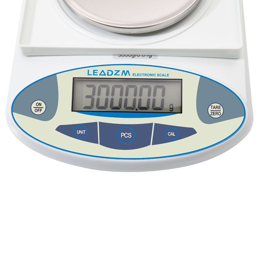 3000g/0.01g Precision Balance Scale LCD Digital Scientific Lab Instrument Laboratory Scale White Electronic Analytical Balance by Mont Pele (Image #8)
