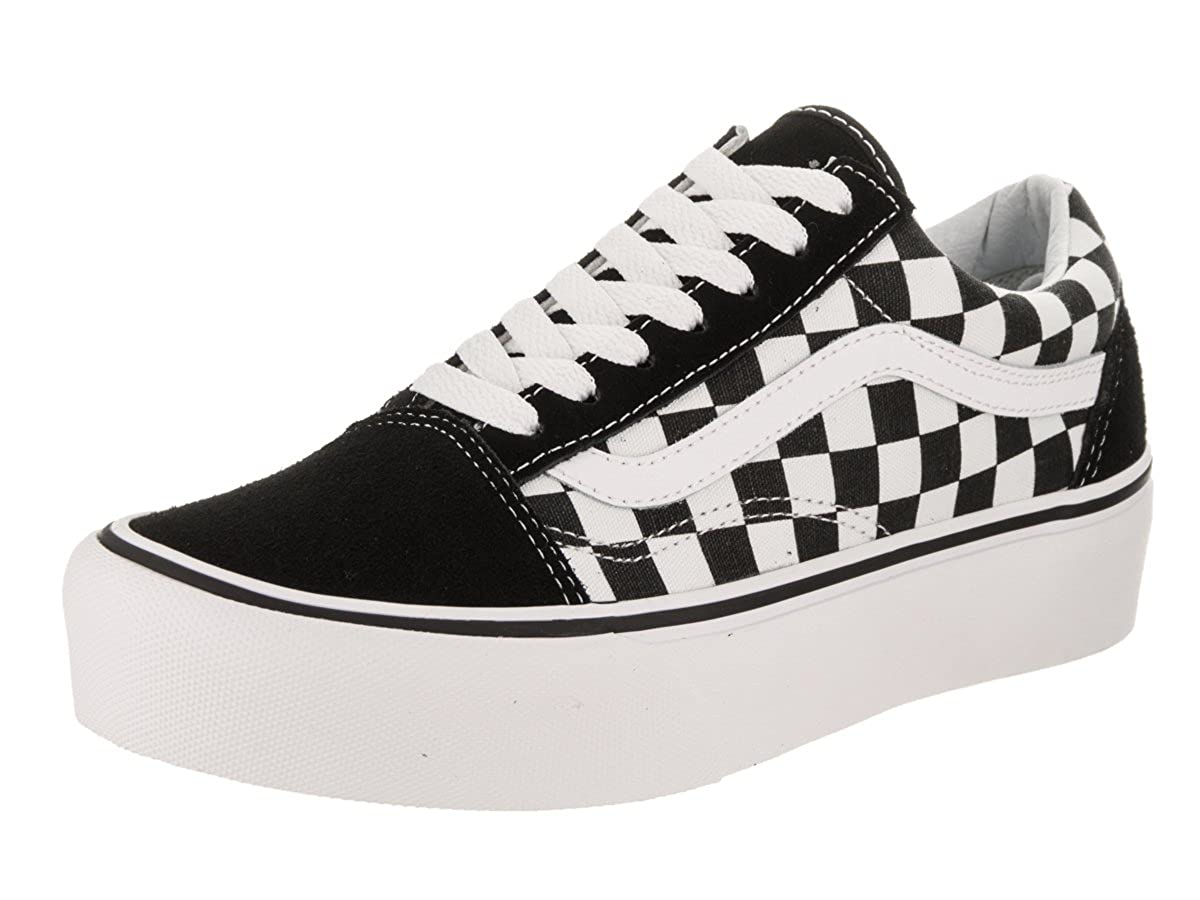 654dc33d75a Vans Unisex Old Skool Platform (Checkerboard) Skate Shoe  Amazon.co.uk   Shoes   Bags