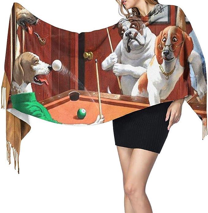 BaoBei-shop Bufanda para mujeres Hombres Perros jugando al billar ...
