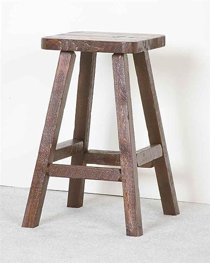 Amazoncom Viking Log Furniture Barnwood Bar Stool Dark Barnwood - Barnwood bar table