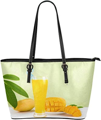 Amazon.com: Ladies Shoulder Bag Yellow Delicious Mango Juice Leather Hand Totes  Bag Causal Handbags Zipped Shoulder Organizer For Lady Girls Womens Mens  Totes: Shoes