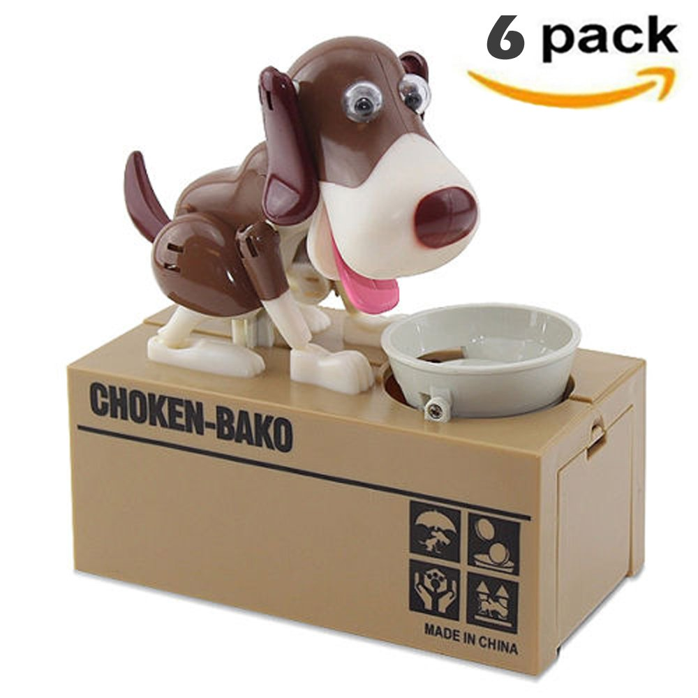 [ Set of 6] Robotic Dog Money Box Automatic Stole Coin Piggy Bank Money Saving Box ~ We Pay Your Sales Tax