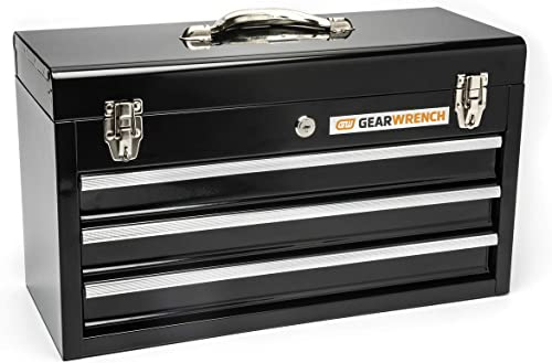GEARWRENCH 20 3 Drawer Steel Tool Box, Black – 83151