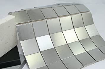 Tile Generation TSSGG X Square Stainless Steel Mosaic Tile - 4x4 stainless steel tiles