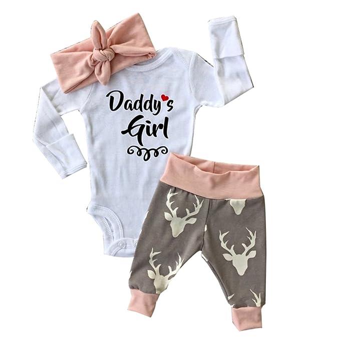 Newborn Infant Baby Girl Romper Pants Bodysuit Outfits Set (0-3 Month) - Amazon.com: Christmas Newborn Infant Baby Girl Romper Pants Bodysuit