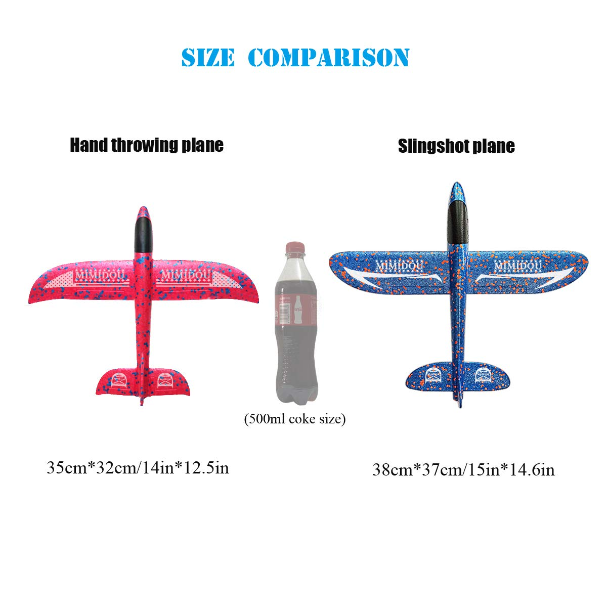 MIMIDOU 4 Pcs Catapult Slingshot Plane 2 Flight Mode Glider Airplane 2 Ways to Play Outdoor Flying Toy for Kids as Gift. by MIMIDOU (Image #5)
