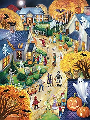 Halloween Town Jigsaw Puzzle 550 Piece from Vermont Christmas Company