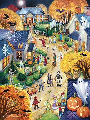 Halloween Town Jigsaw Puzzle Trick or Treat  550 Piece