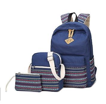 1fe9b19edb28 WKBY New Student Backpack Women Rucksack Canvas Travel Bookbags School  Shoulder Bags for Teenage girls Gift