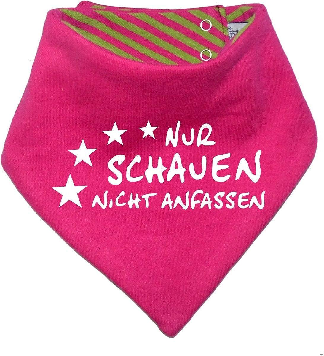 mitwachsendes Baby - und Kinder Wende - Halstuch Nur schauen nicht anfassen/in 7 Designs/Größen 0-36 Monate