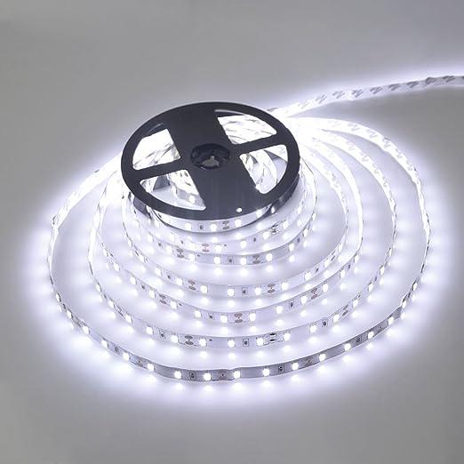 545 opinioni per Striscia LED- 5 Metri- 72W- SMD5050 BIANCO FREDDO- 300 LED