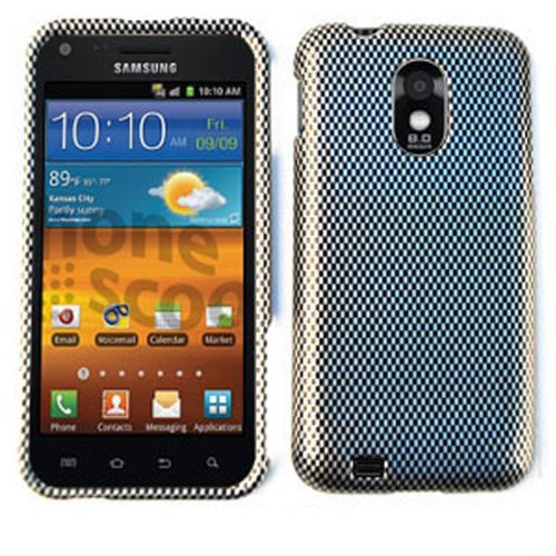 For Samsung Galaxy S Ii S2 Epic 4g Touch D710 Carbon Fiber Tp1439 Glossy Cover Hard - At Block Ca Orange