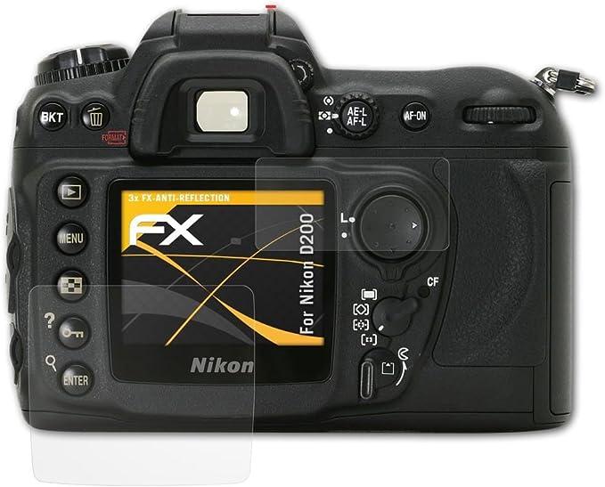 Atfolix Panzerfolie Kompatibel Mit Nikon D200 Schutzfolie Entspiegelnde Und Stoßdämpfende Fx Folie