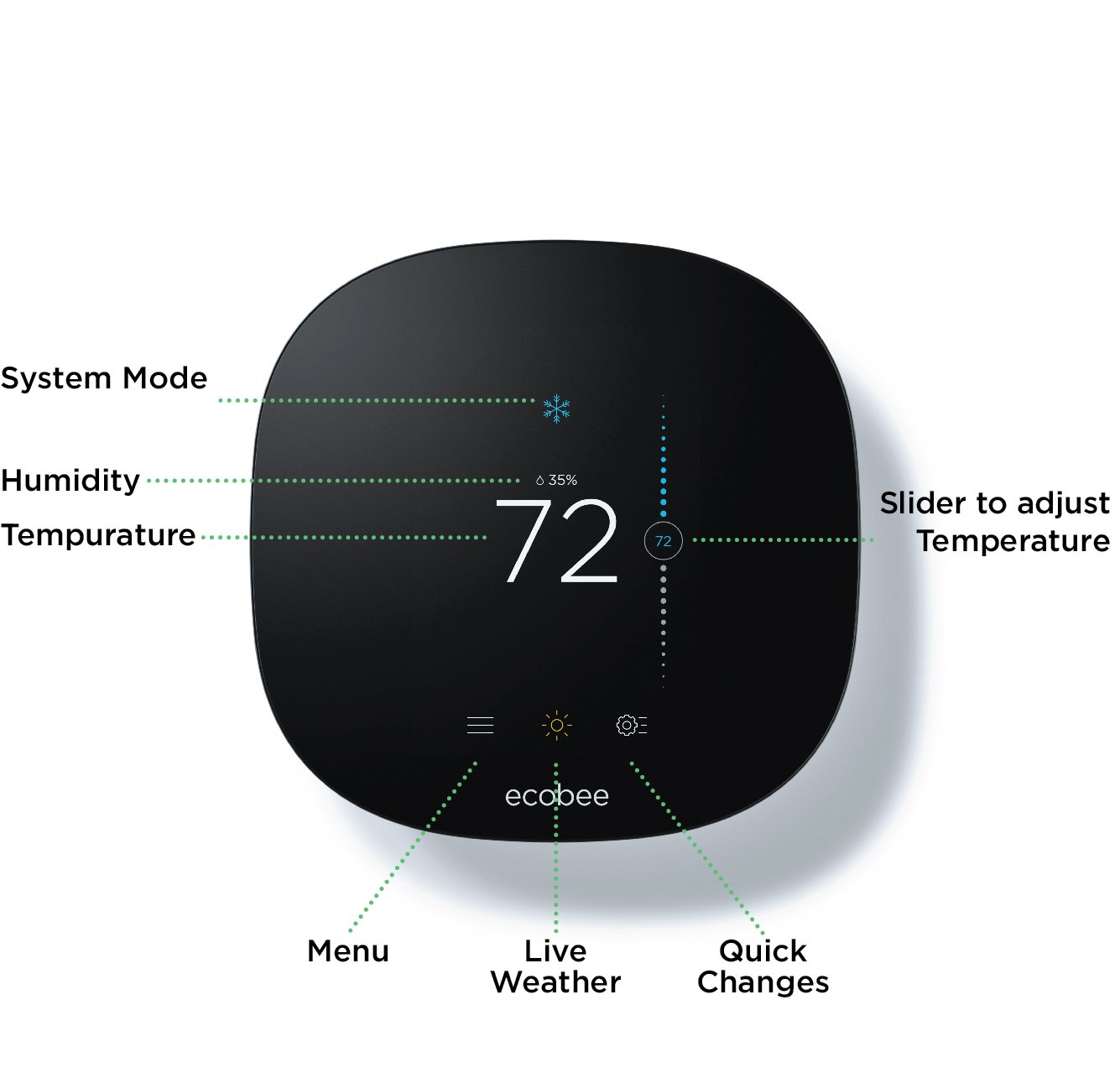 Ecobee3 Lite Thermostat, Wi-Fi, Works with Amazon Alexa by ecobee (Image #9)