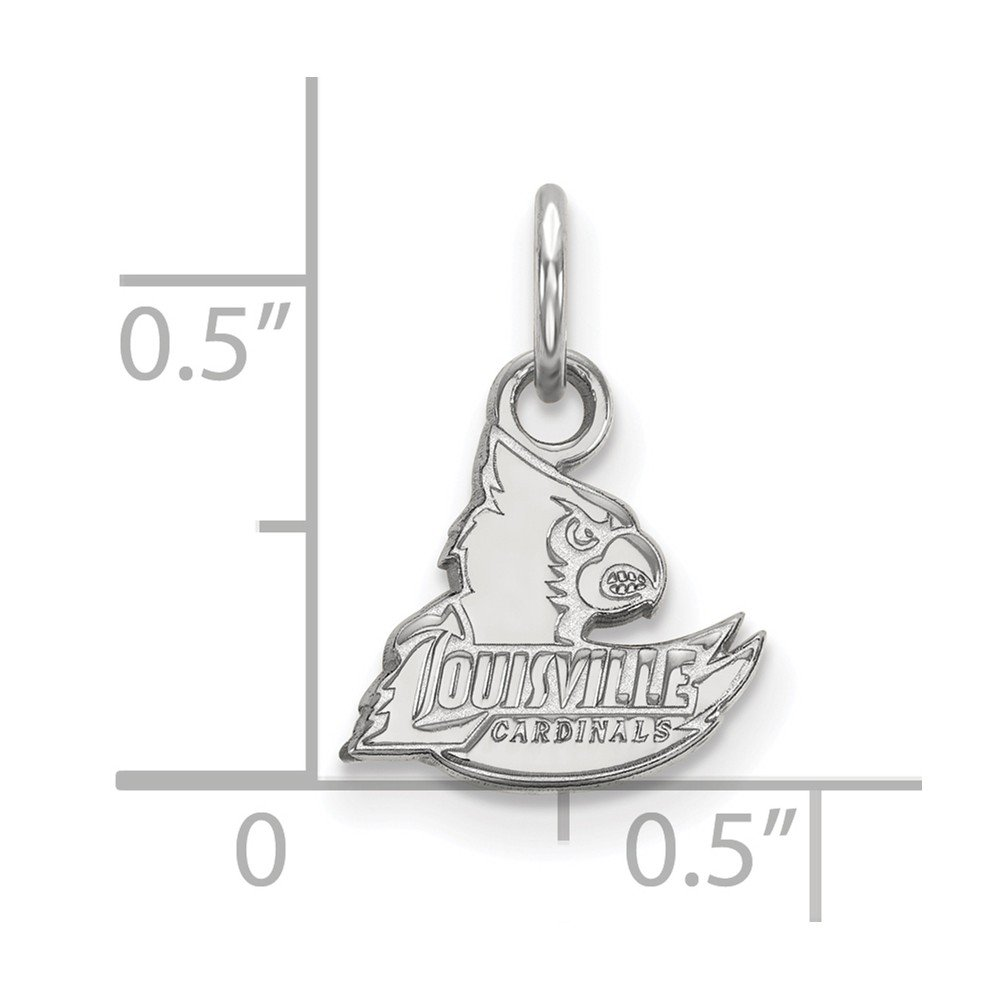 11mm x 14.5mm Solid 925 Sterling Silver University of Louisville Extra Small Pendant