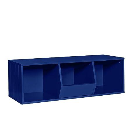 Beau RiverRidge Kids Storage Stacker 2 Cubbies 1 Veggie Bin, Navy
