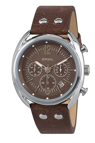 Breil Reloj Cronógrafo para Hombre de Cuarzo con Correa en Cuero TW1663: Amazon.es: Relojes