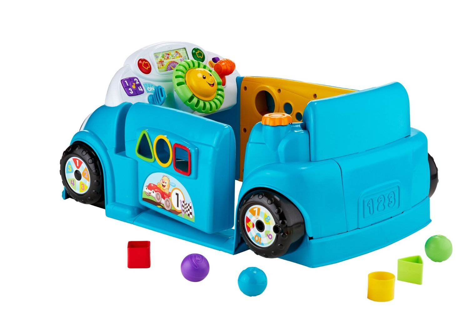 Fisher-Price Laugh & Learn Smart Stages Crawl Around Car, Blue by Fisher-Price (Image #12)