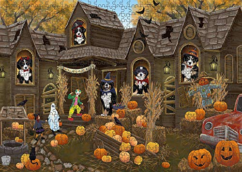 Doggie of the Day Haunted House Halloween Trick or Treat Bernese Mountain Dogs Puzzle with Photo Tin PUZL62942 (1000 pc. 22