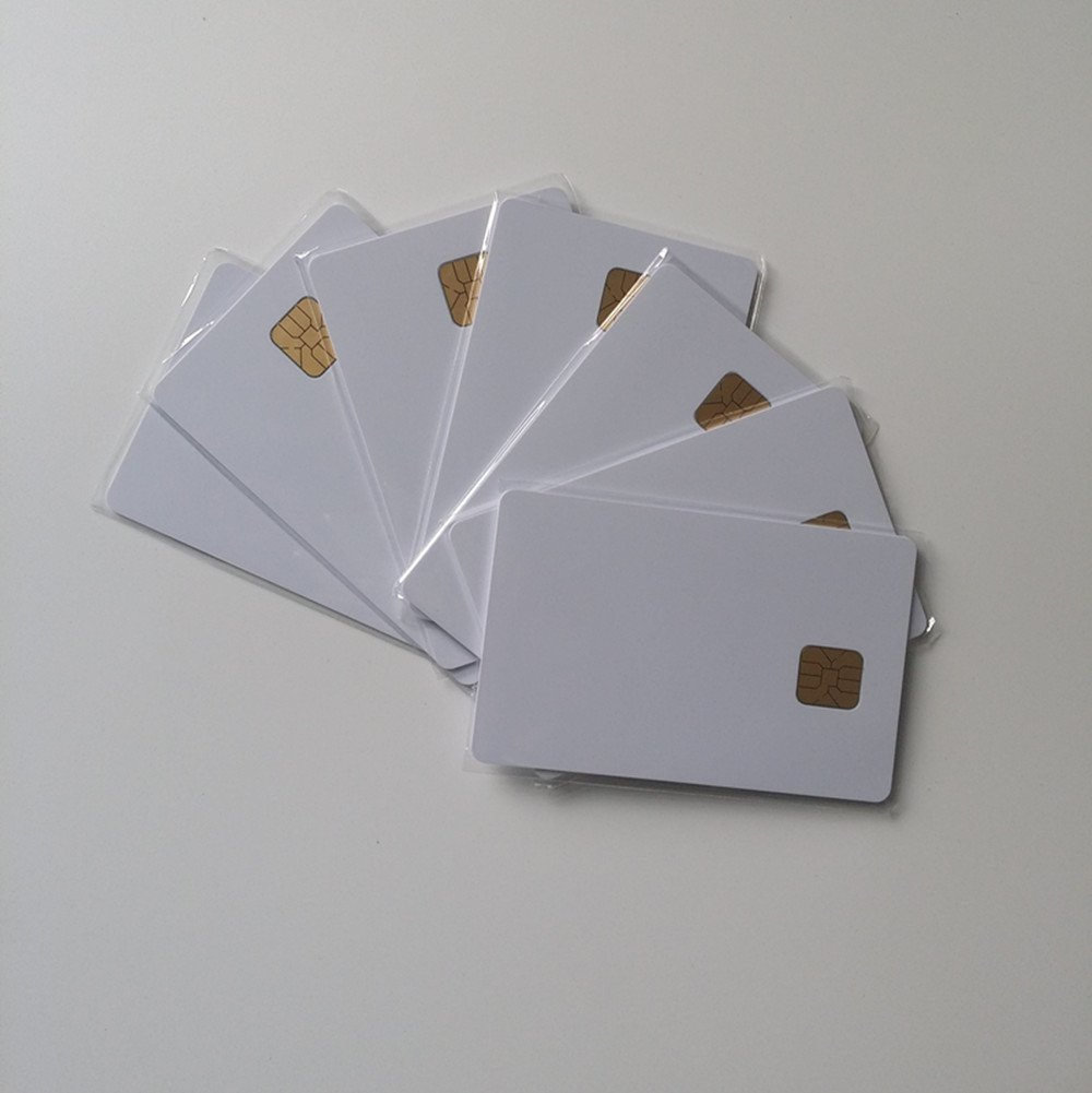 50x White Pvc Id Card with Sle4428 Chip Contact Smart Card, Contact Ic Card