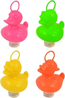 HENBRANDT 20 Weighted 7cm Plastic Ducks with Hooks - Assorted Colours