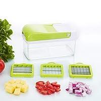 Mandoline 10 in 1 food slicer chopper, food container, all in one vegetable cutter -vegetable slicer- fruit and cheese chopper,granulator, muti-function shredder