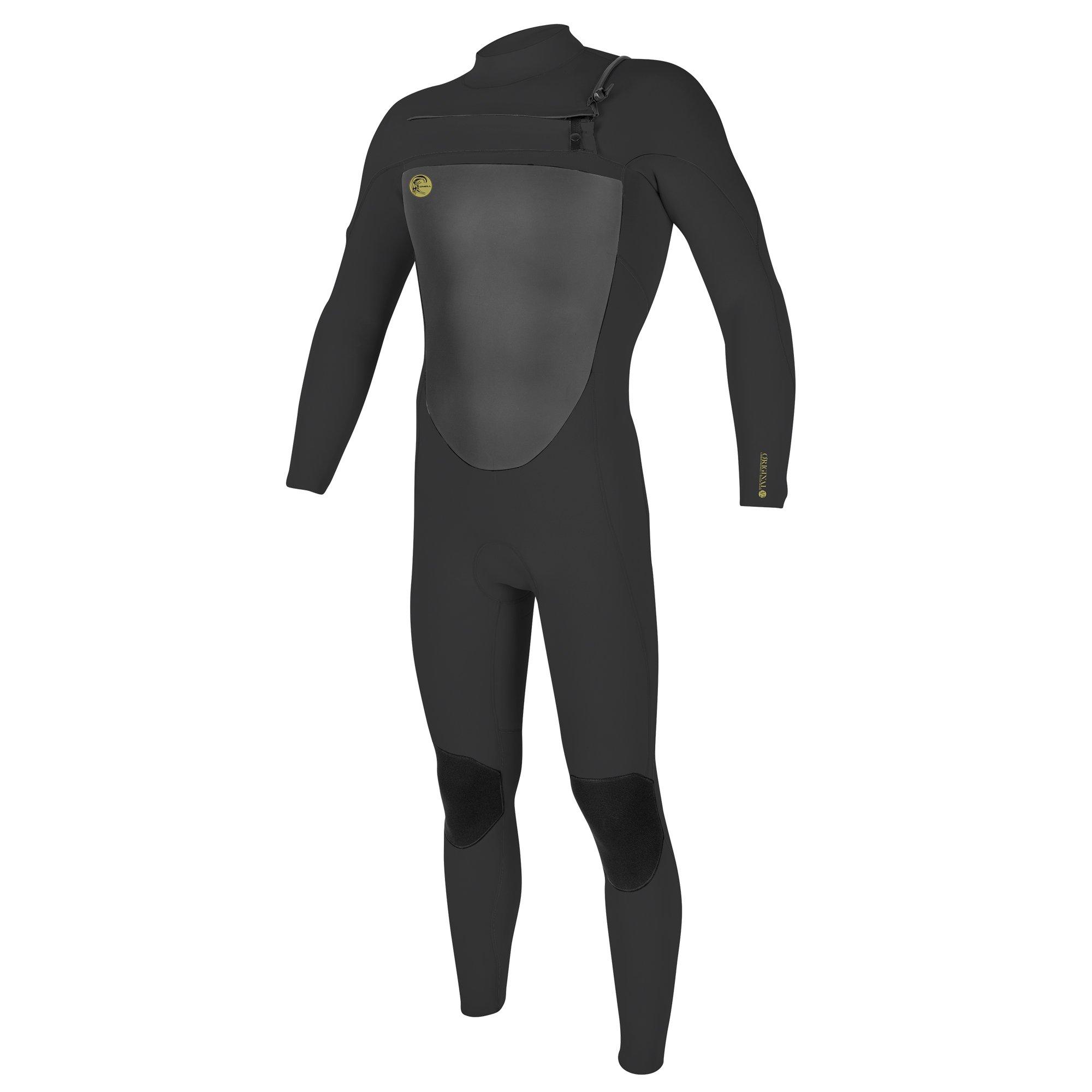 O'Neill Men's O'Riginal 3/2 mm Chest Zip Full Wetsuit, Oil/Oil, Small