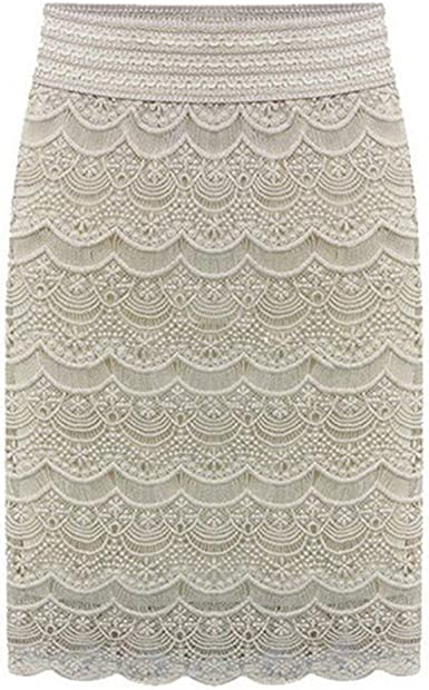 NEW LADIES WOMENS FLORAL LACE PENCIL SKIRTS BODYCON MIDI LOOK KNEE LENGTH SKIRT