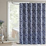 Kohls Curtains Home Classics Dark Blue Surf Indigo Fabric Shower Curtain Bath Decor