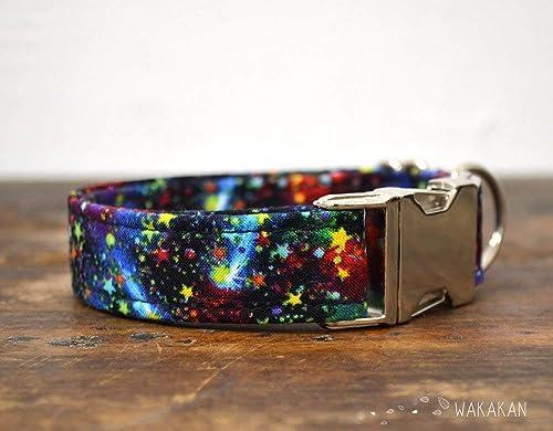 Collar Para Perro: Milky Way, Hecho a Mano en España por Wakakán: Amazon.es: Handmade