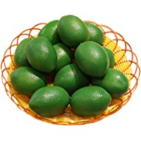 10 Pack Artificial Lemons Limes Fruit for Vase Filler Party Decoration Green