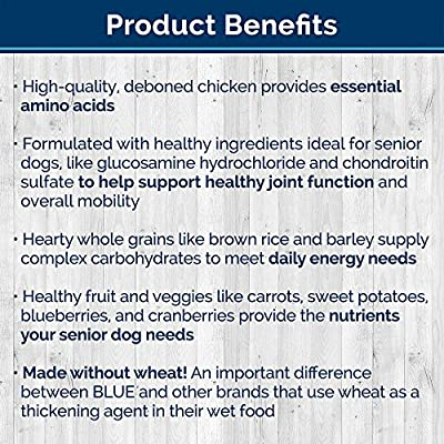 BLUE Homestyle Senior Chicken Wet Dog Food 12.5-oz (Pack of 12)