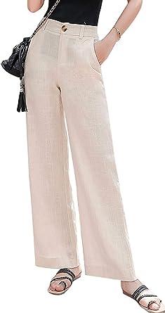 women maxi summer pants Cotton Palazzo pants Wide Leg Pants