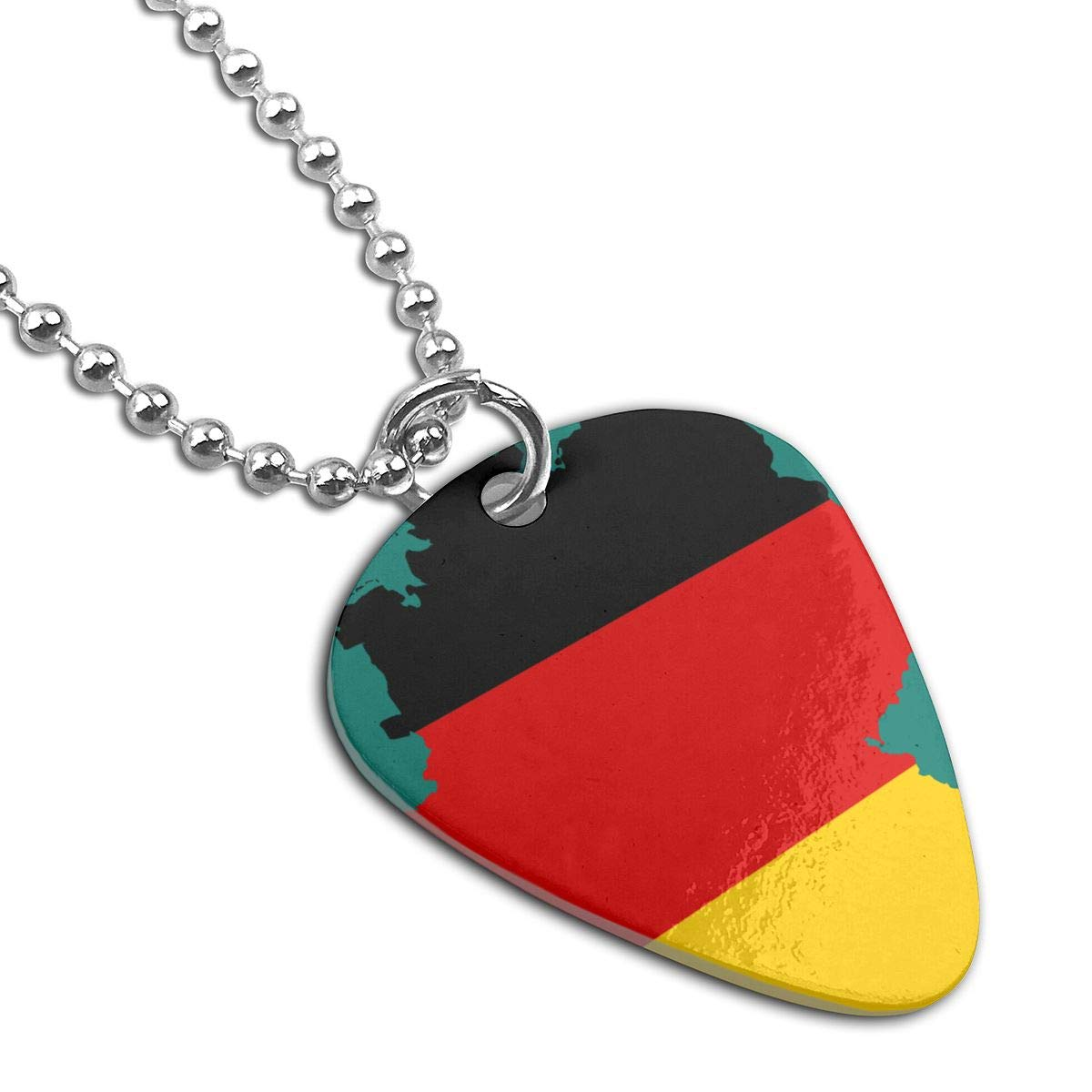 Flag Map Of Germany Guitar Pick Necklace Unique Custom Fashion Pet Card Keychain