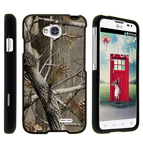 LG Ultimate 2 Phone Case, Full Body Armor Snap On Hard Case Protector Cover with Customized Design for LG Optimus L70 MS323, LG Optimus Exceed 2 VS450PP, LG Realm LS620, LG Ultimate 2 L41C (Metro PCS, Verizon, Boost Mobile) from MINITURTLE | Includes Clear Screen Protector and Stylus Pen - Hunter Camouflage (Lg Realm Phone Boost Mobile)