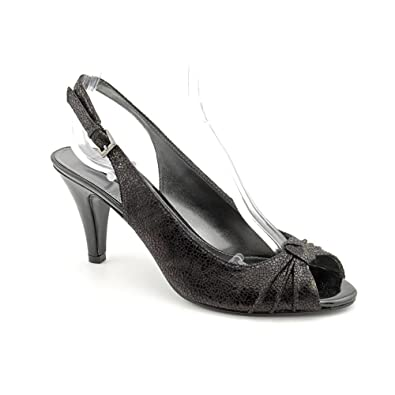 2efe5904349 Bandolino All My Love Women s Shoes Black Slingbacks Pumps Open Toe Size 6m