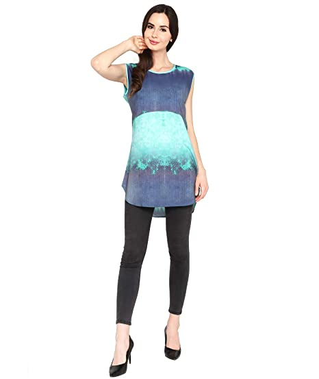 03e7563213d P-Nut Green Colour Sleeveless Polyester Regular Fit Top: Amazon.in ...