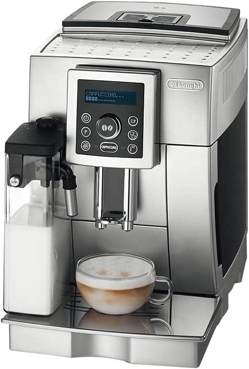 DeLonghi ECAM 23.450.S - Cafetera (Independiente, Máquina espresso, 1,8 L, Molinillo integrado, 1450 W, Plata): Amazon.es: Hogar