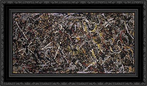 Alchemy 24x17 Black Ornate Wood Framed Canvas Art by Pollock, (Alchemy Canvas)