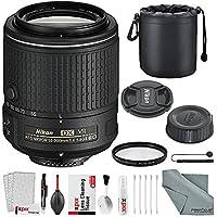 Nikon AF-S DX NIKKOR 55-200mm f/4-5.6G ED VR II Lens Bundle W/ 52mm UV Filter + Lens Pouch + Xpix Lens Handling Accessories